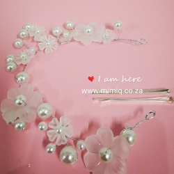handmade pearl hair necklace with clip