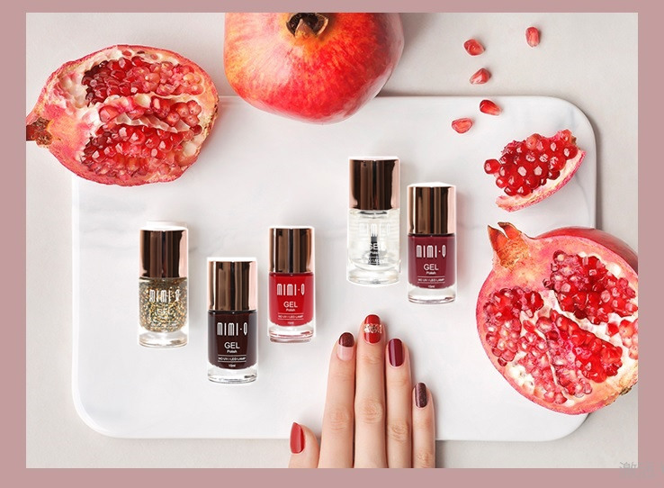 MIMIQ Gel Polish Red pomegranate Series